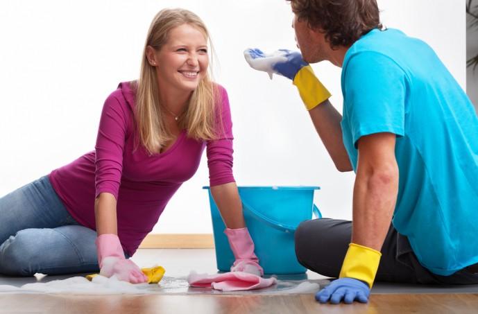 家デート 掃除