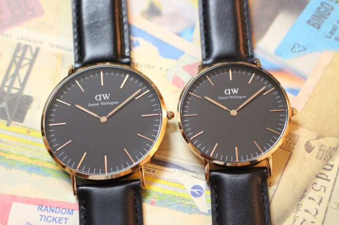 誕生日プレゼントにダニエルウェリントンの黒の腕時計