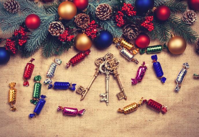 キーホルダーのクリスマスプレゼント