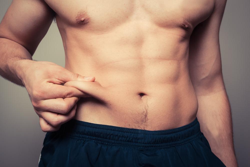 腸腰筋の衰えで下腹部に脂肪がついた人