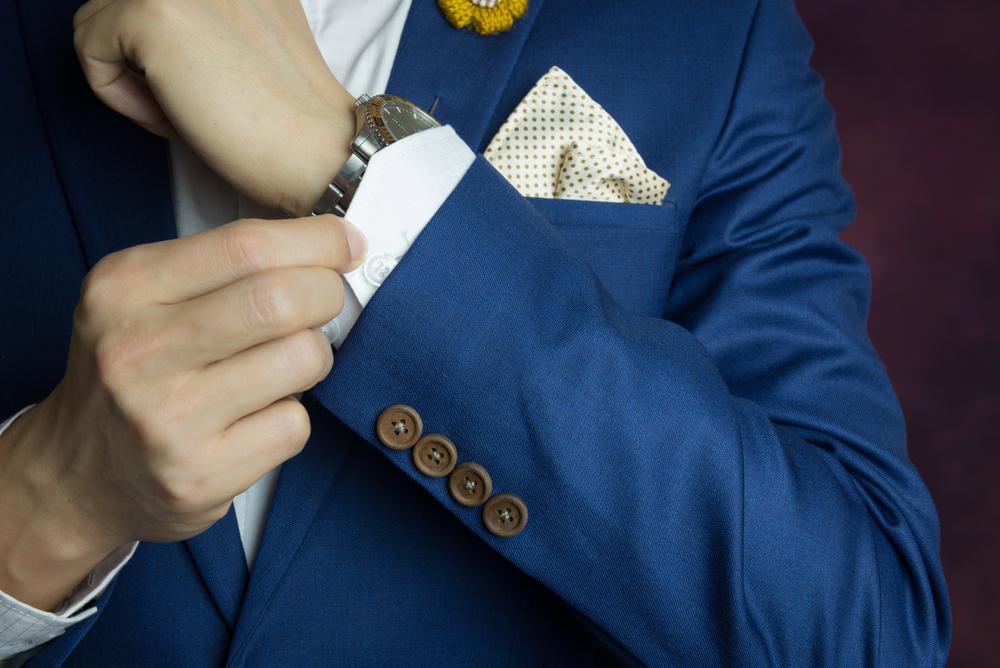 ポケットチーフの合わせ方