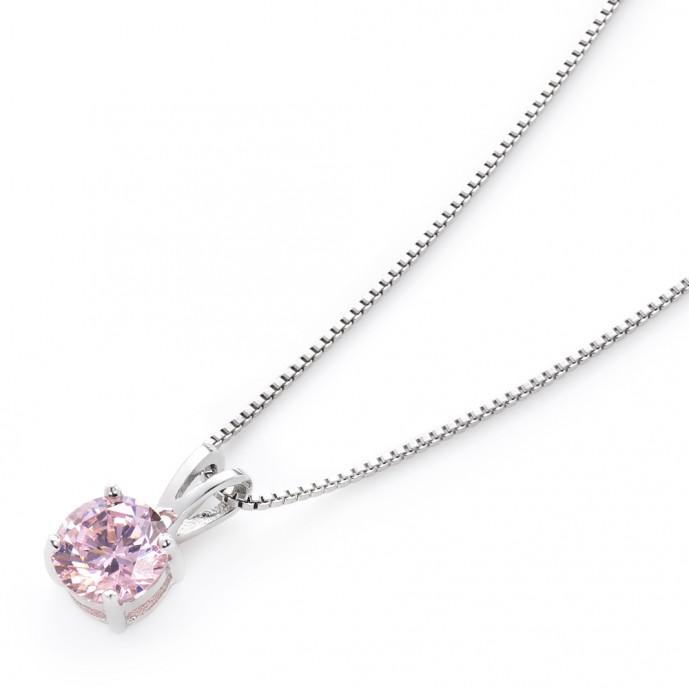 母の日のアクセサリーのプレゼントにピンクダイヤモンドのネックレス