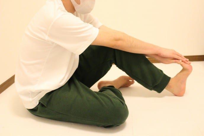 足裏の柔軟ストレッチ