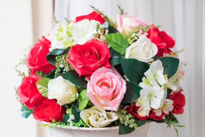 母の日のプレゼントはバラの花束